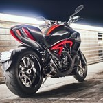 Production (Stock) Ducati Diavel, a motorcycle parked on the side of a road a 2020 Ducati Diavel Streetbike parked on the side of a road