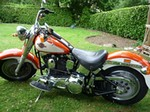 Production (Stock) Harley-Davidson FatBoy, Harley-Davidson FatBoy - Harley Davidson Fatboy FLSTF 1998 ORANGE/WHITE Source: <a href='https://motorcycles-for-sale.biz/sale.php?id=1214' target='_blank'>https://motorcycles-for-sale.biz/...</a>