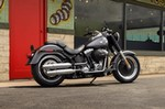 Production (Stock) Harley-Davidson FatBoy, Harley-Davidson FatBoy - Review of Harley-Davidson Softail Fat Boy S 1690cc ... Source: <a href='http://loversofmoto.com/harley-davidson-softail-fat-boy-s-1690cc/' target='_blank'>http://loversofmoto.com/...</a>