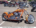 Production (Custom) Harley-Davidson Unknown (HD), orange custom chopper