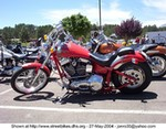 Production (Custom) Harley-Davidson Unknown (HD), red with maltise cross