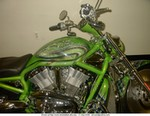 Production (Custom) Harley-Davidson VRSC, The green V-Rod.