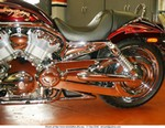 Production (Custom) Harley-Davidson VRSC, Closer look at the shiny V-Rod.