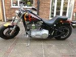 Production (Stock) Harley-Davidson XLH Models, Harley-Davidson XLH Models - Harley-Davidson FXST SOFTAIL 100 aniversary model custom paint Source: <a href='https://motorcycles-for-sale.biz/sale.php?id=1232' target='_blank'>https://motorcycles-for-sale.biz/...</a>