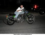 Production (Custom) Kawasaki KZ Models, My buddy (Crazy Mike) showing on his dual Nos injected KZ650 turbo with superharger LOL