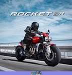 Production (Stock) Triumph Rocket 3, a person riding on the back of a motorcycle a person riding on a 2020 Triumph Rocket 3 Streetbike