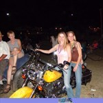 Women Harley-Davidson Heritage, Hot babe with a Harley Davidson Heritage  motorcycle!