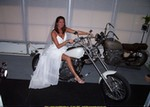 Women Suzuki Savage, Hot babe with a Suzuki Savage motorcycle!