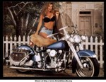 Women Harley-Davidson Unknown (HD), Hot babe with a Harley Davidson motorcycle!