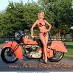 Women Indian Unknown (Indian), Hot babe with a Indian motorcycle!