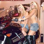 Women Unknown Unknown (Unknown), Hot babe with a cool motorcycle!