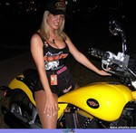 Women Victory V92 Models, Hot babe with a Victory V92C motorcycle!