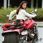 Women BossHoss 502, Hot babe with a BossHoss/502 motorcycle!