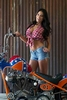 Women Harley-Davidson Unknown (HD), Hot babe with a cool custom motorcycle!