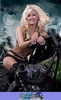 Women Harley-Davidson Unknown (HD), Hot babe on a cool custom motorcycle!