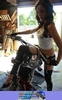 Women Harley-Davidson Unknown (HD), Hot motorcycle babe on a cool custom!