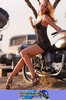 Women Triumph Unknown (Triumph), Hot babe with a cool custom motorcycle!
