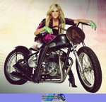 Women Triumph Unknown (Triumph), Cute model with a cool custom Triumph motorcycle! Ashley Roberts riding on a Triumph  Streetbike