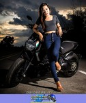 Women Ducati Diavel, ducati diavel hot woman a woman sitting on a Ducati Diavel Streetbike