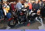 Women Harley-Davidson Heritage, Nice woman on a Harley/Heritage motorcycle. a group of people standing around a 2018 Harley-Davidson Heritage  Streetbike