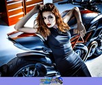 Women Ducati Diavel, Cute model with a cool custom motorcycle! a woman sitting on a Ducati Diavel Streetbike