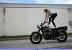 Women Triumph Unknown (Triumph), leticia cline motorcycle 3 a woman riding on a Triumph  Streetbike