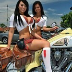 Women Indian Chief Models, a woman sitting on a motorcycle a woman sitting on a Indian Chief Models Streetbike